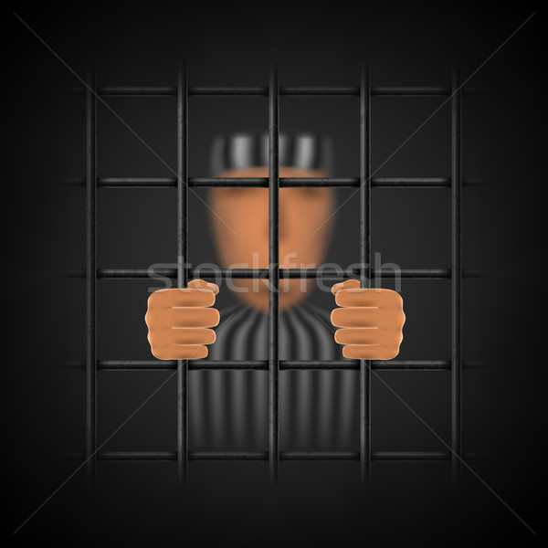 A Convicted Person Behind a Prison Cell. Stock photo © TarikVision
