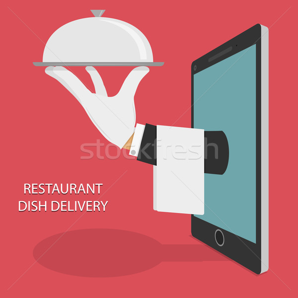 Restaurant Food Delivery Concept Illustration. Stock photo © TarikVision