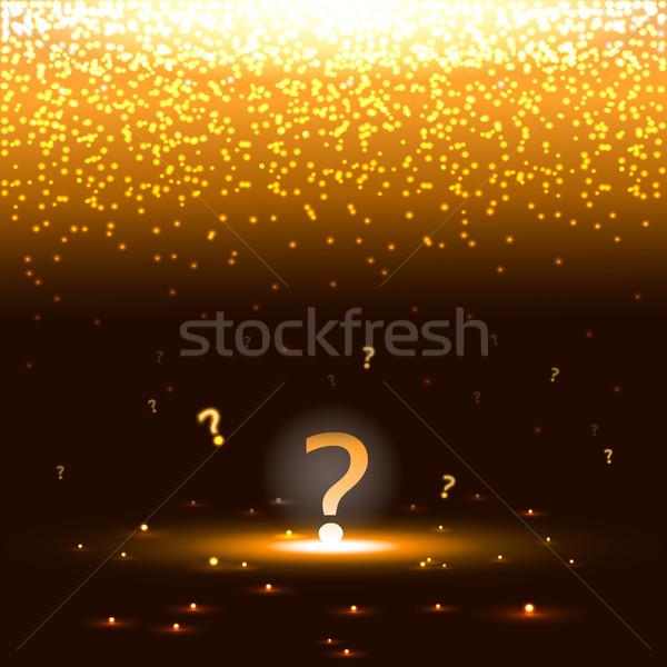 Soru işareti sparks arka plan yağmur soru Stok fotoğraf © TarikVision