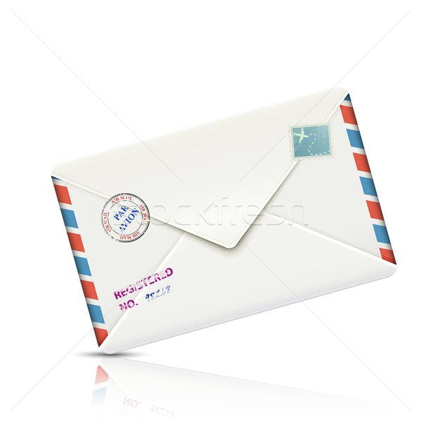 Old-fashioned Airmail Realistic Paper Envelope Stock photo © TarikVision