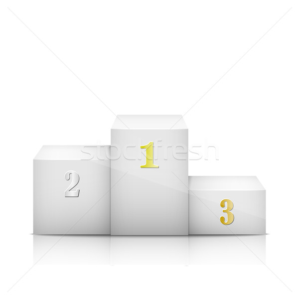 White Olympic Pedestal With Numbers Stock photo © TarikVision