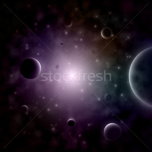 星 スペース 光 背景 青 1泊 ストックフォト © TarikVision