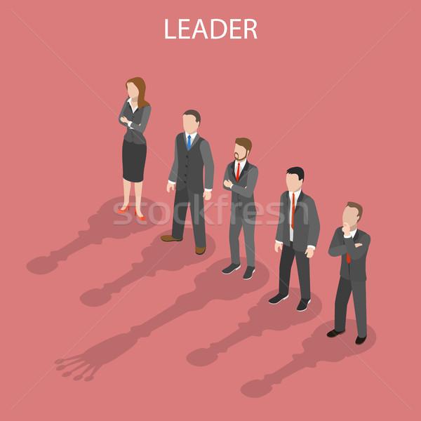 Teamleider isometrische vector leiderschap geslaagd teamwerk Stockfoto © TarikVision
