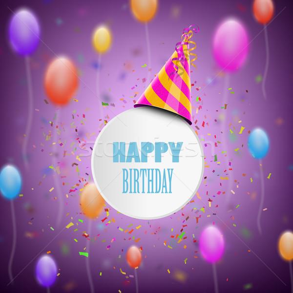 Stockfoto: Gelukkige · verjaardag · Blur · baby · abstract · verjaardag · achtergrond