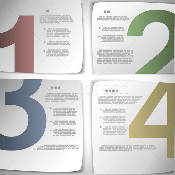 Progresso papel eps10 educação teia Foto stock © TarikVision