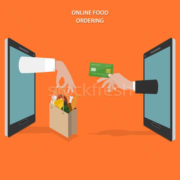 онлайн продовольствие вектора рук клиентов Сток-фото © TarikVision