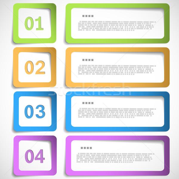 1-2-3-4 option - paper frames template Stock photo © TarikVision