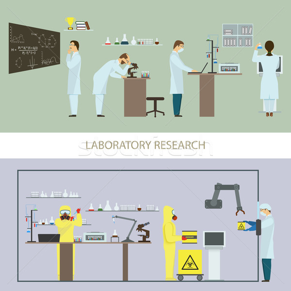 Laboratory Research by Group of Scientists. Stock photo © TarikVision