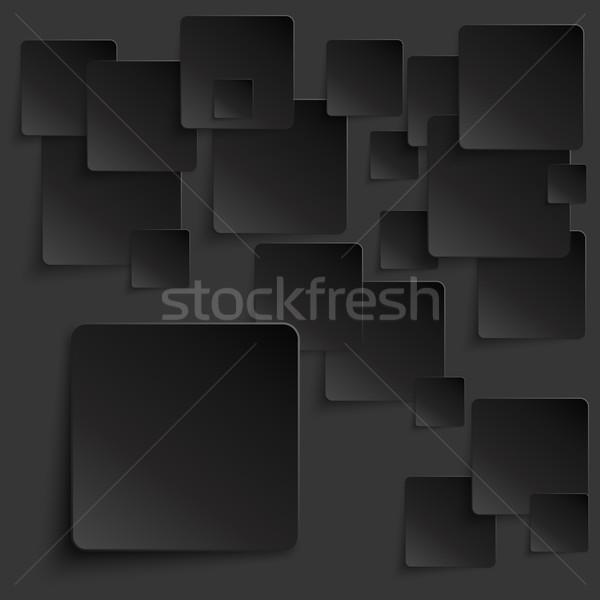 黒 タイル 抽象的な ベクトル eps10 ビジネス ストックフォト © TarikVision