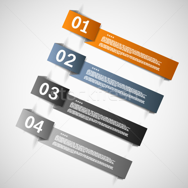 Kleur papier sjablonen vooruitgang presentatie eps10 Stockfoto © TarikVision