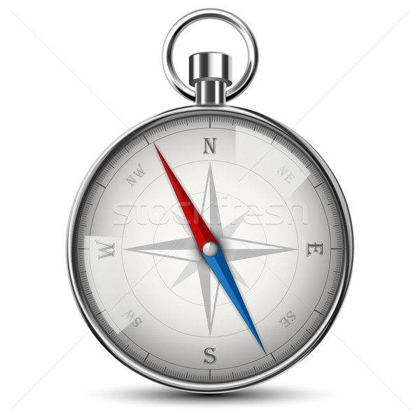 Realistic Compass Isolated On White. Stock photo © TarikVision