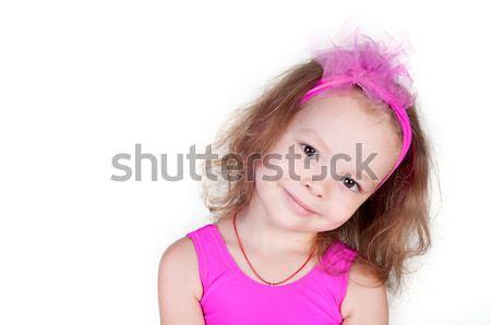 肖像 かわいい 笑みを浮かべて 女の子 孤立した 顔 ストックフォト © TarikVision
