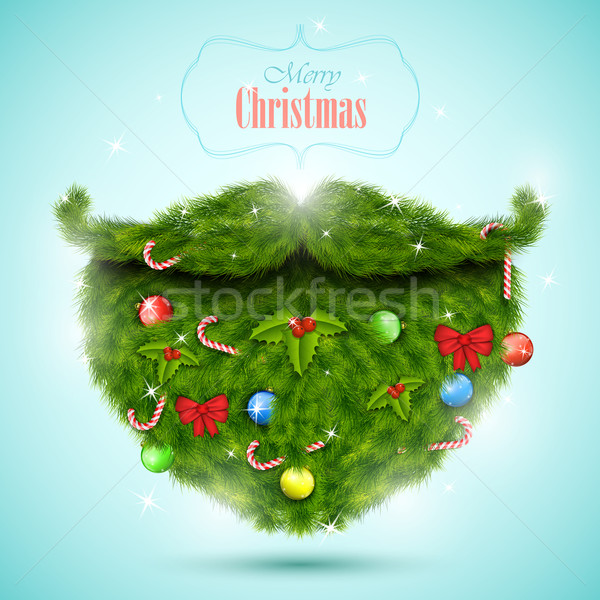 Christmas greeting card vector illustration.  Stock photo © TarikVision