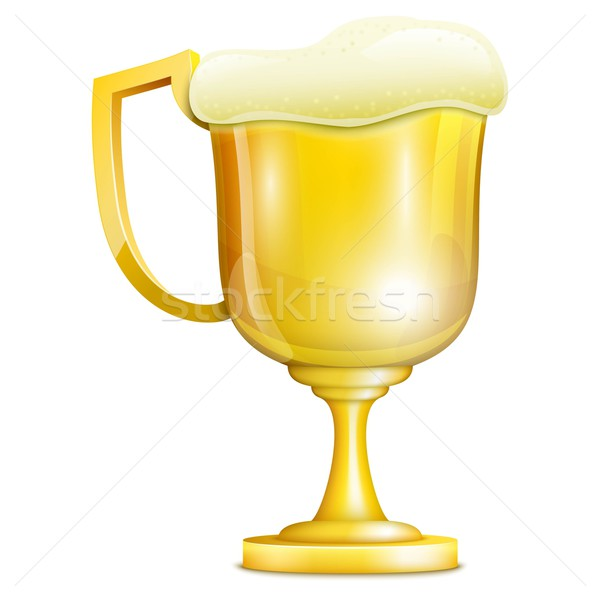 Beer With Froth In Golden Mug Stock photo © TarikVision