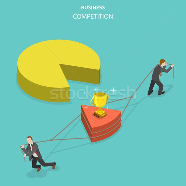 Business concurrentie isometrische vector twee zakenlieden Stockfoto © TarikVision