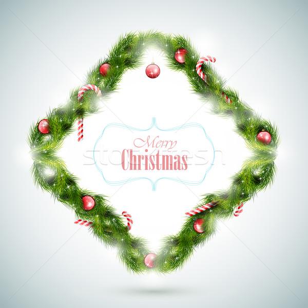 Greeting Card With Christmas Attributes. Stock photo © TarikVision