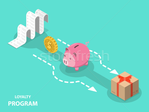 Loyalty program flat isometric vector concept. Stock photo © TarikVision