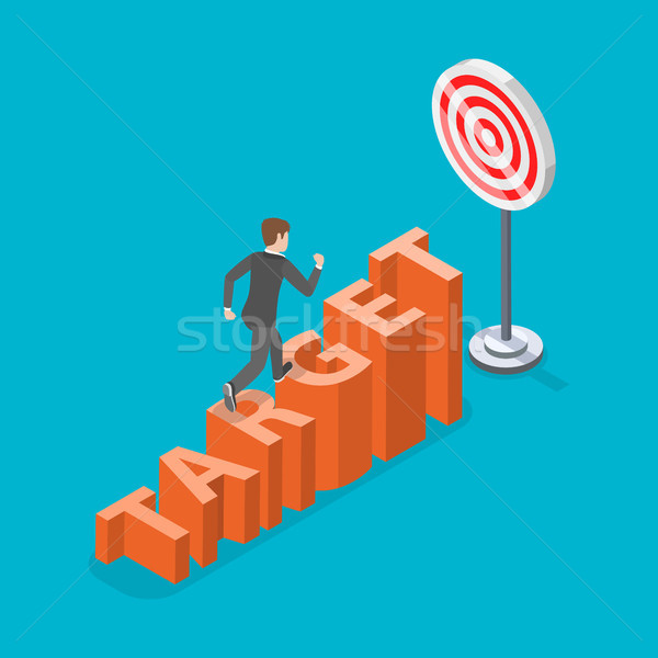 Target flat isometric vector concept. Stock photo © TarikVision