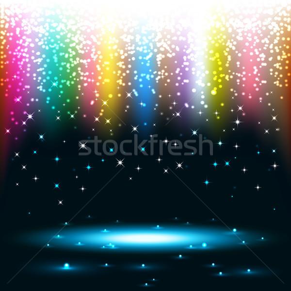 аннотация красочный eps10 дождь синий цвета Сток-фото © TarikVision