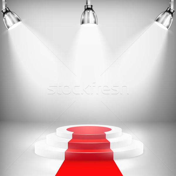 Podio tappeto rosso rosso fase successo Foto d'archivio © TarikVision