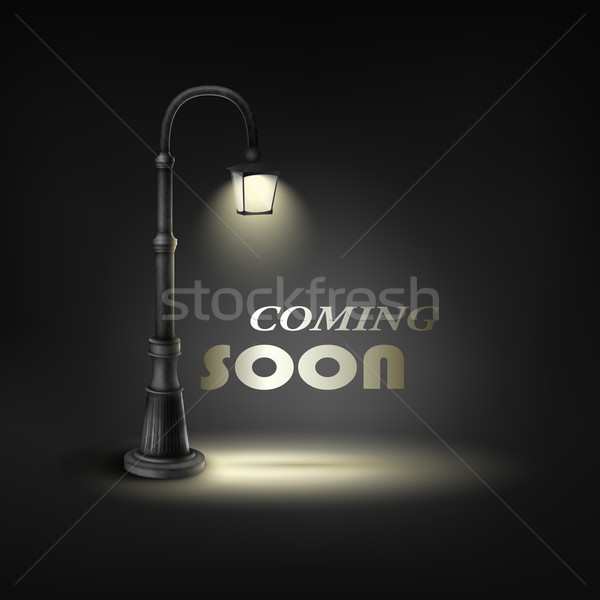 Coming Soon With Under Street Lamp. Stock photo © TarikVision