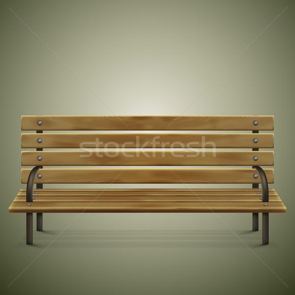 Houten gedetailleerd bank groene stoel ontspannen Stockfoto © TarikVision