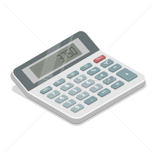 Grey isometric calculator vector illustration. Stock photo © TarikVision