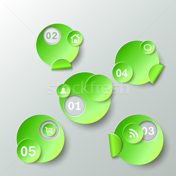 Abstract template for data presentation paper stickers Stock photo © TarikVision