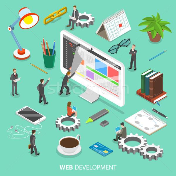 Web desarrollo vector personas toma Foto stock © TarikVision