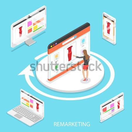 содержание разделение изометрический вектора информации обмена Сток-фото © TarikVision