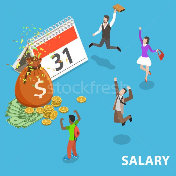 Salario día vector prima ingresos Foto stock © TarikVision