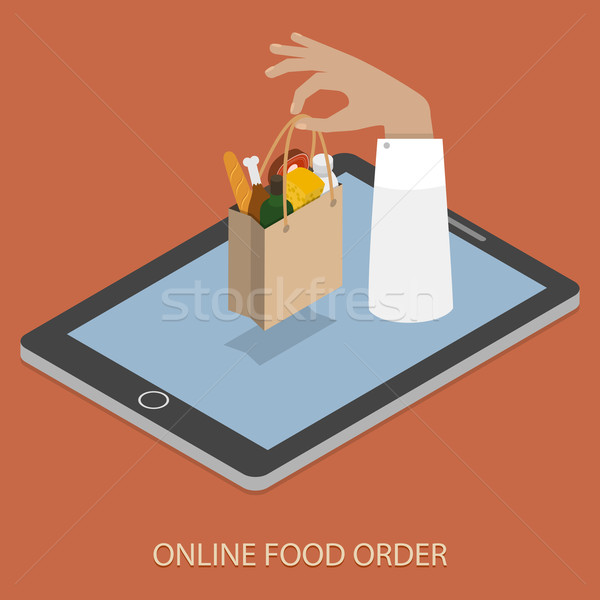 Online Foood Ordering Concept Illustration. Stock photo © TarikVision