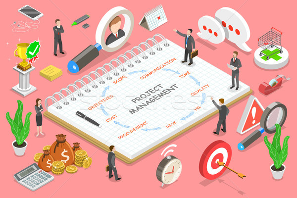Project management isometric flat vector conceptual illustration. Stock photo © TarikVision