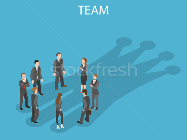 成功した チーム アイソメトリック ベクトル ビジネスチーム サークル ストックフォト © TarikVision