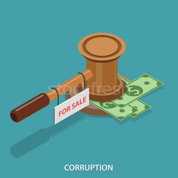 Corruption isometric flat vector concept.  Stock photo © TarikVision