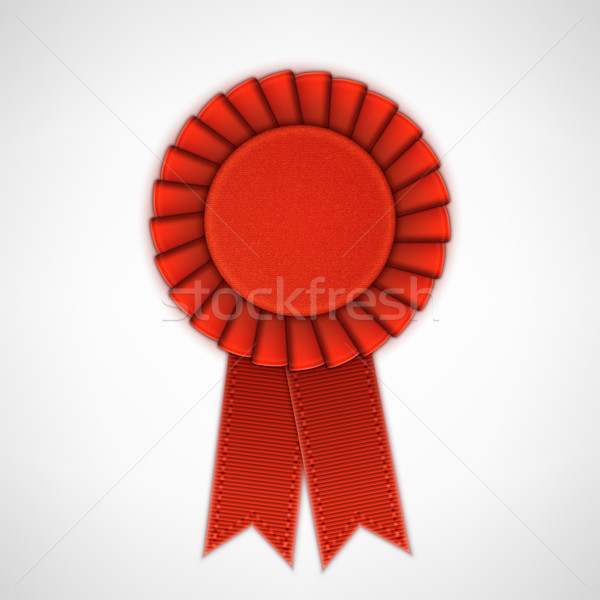 Red Realistic Textile Rosette with Ribbons. Stock photo © TarikVision