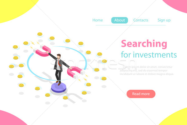 Investering isometrische vector marketing analyse Stockfoto © TarikVision