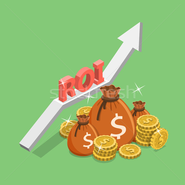 Isometrische vector terugkeren investering roi digitale Stockfoto © TarikVision