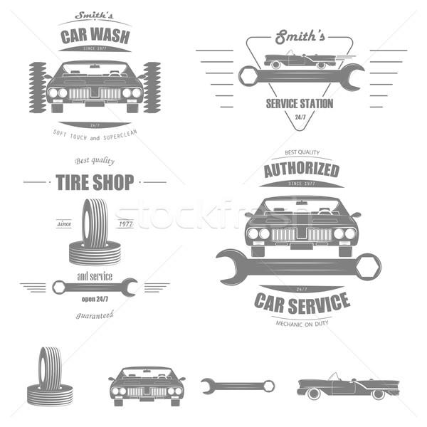 Car Service Vector Badge Set. Stock photo © TarikVision