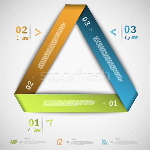 Infographic paper triangle template Stock photo © TarikVision