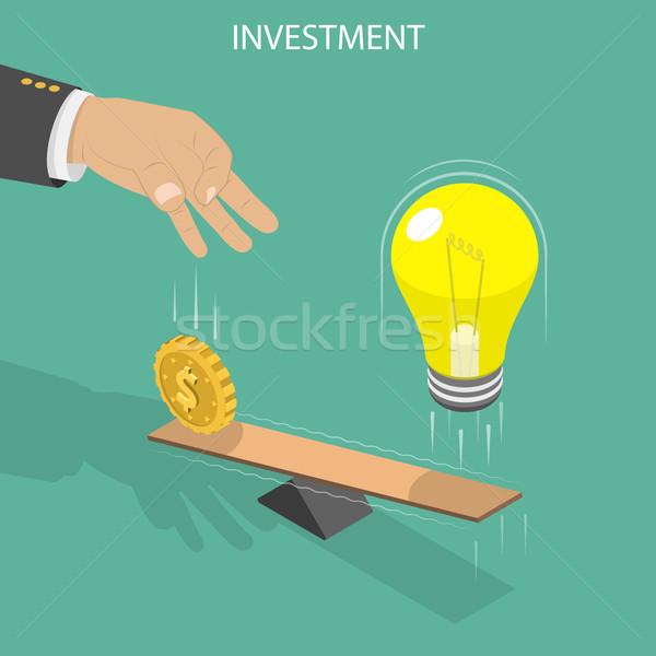 Vector inversión mano moneda Foto stock © TarikVision