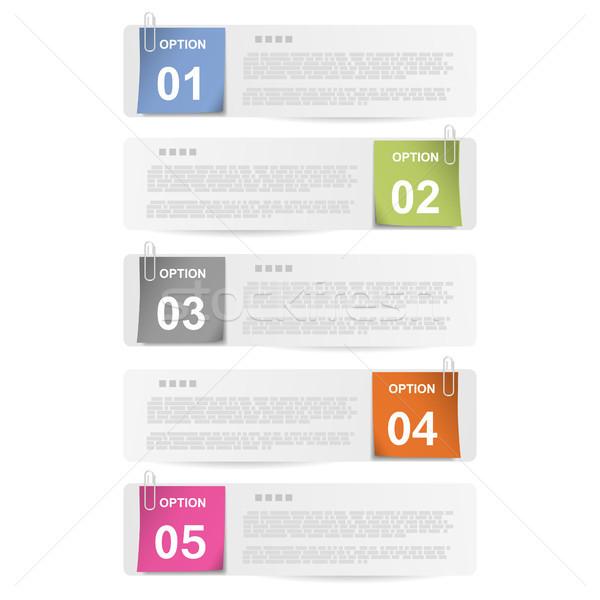 выбора бумаги отмечает eps10 бизнеса Сток-фото © TarikVision