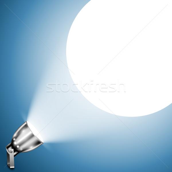 металлический Spotlight синий стены металл черный Сток-фото © TarikVision