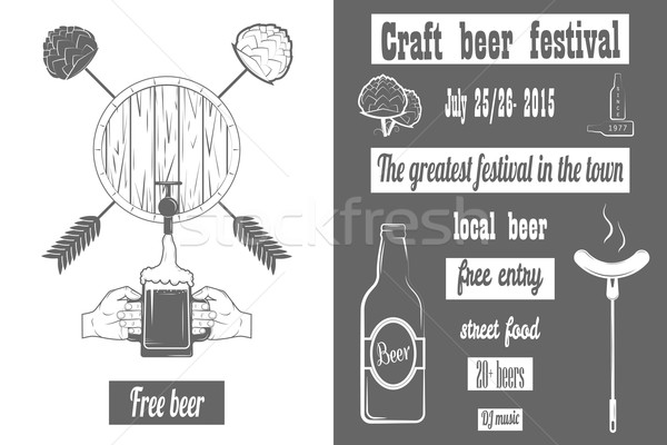 Beer Craft Fest Two-color Poster. Stock photo © TarikVision