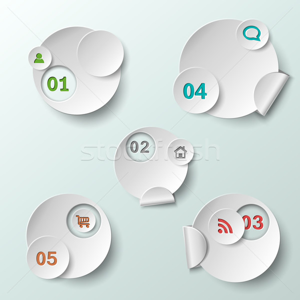 Stock photo: Abstract circle template