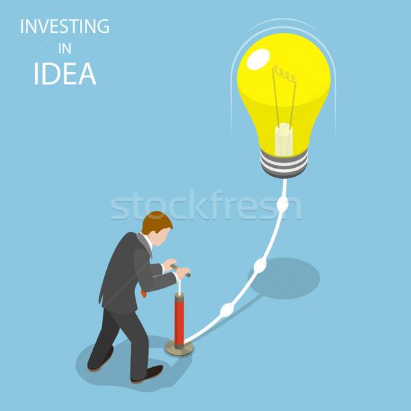 Idee isometrische vector ondernemer omhoog Stockfoto © TarikVision