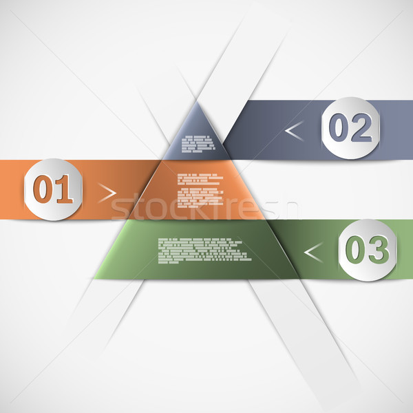 Stock photo: Option paper template