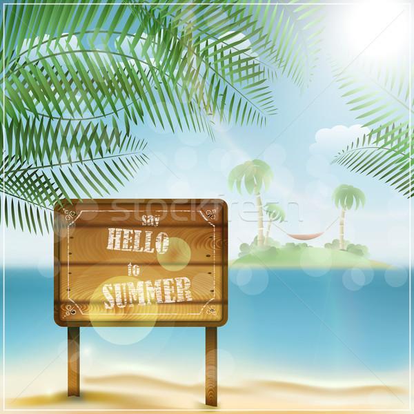 Say hello to summer Stock photo © TarikVision
