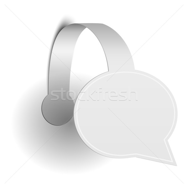 Isolated Paper Promotion Wobbler Stock photo © TarikVision