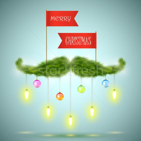 Santas moustache vector illustration.  Stock photo © TarikVision
